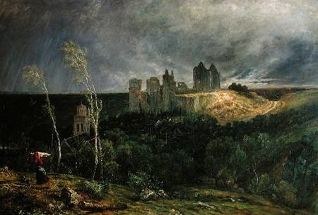 Paul Huet, The Ruins of the Chateau of Pierrefonds, 1867-68. Collection of the Musees nationaux du Palais de Compiegne.