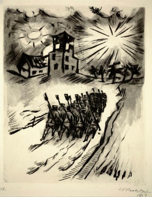 Max Pechstein, Somme VI, 1916.