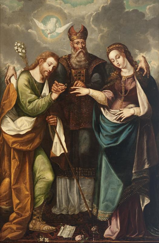 Pedro Ramirez, Marriage of the Virgin, 1668.