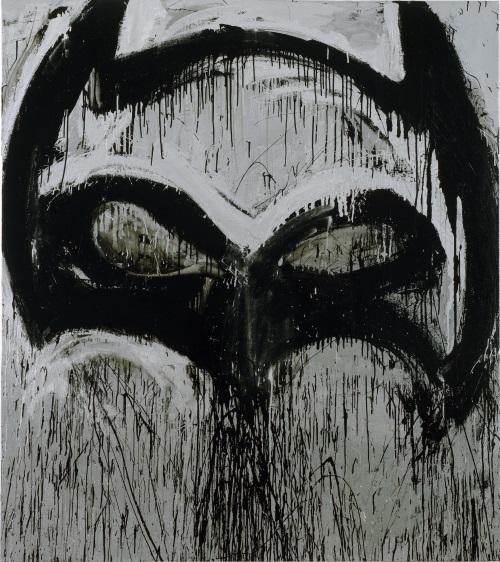 Joyce Pensato, Silver Batman II, 2012.
