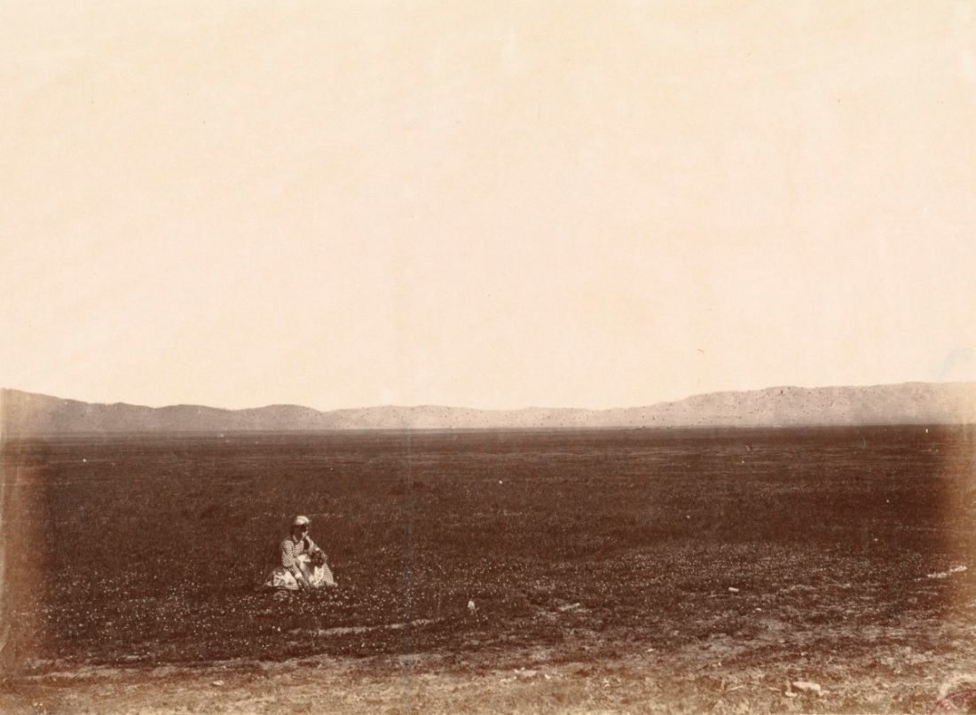Alexander Gardner, Tulare Valley, California; gathering flowers in February, February 1868.