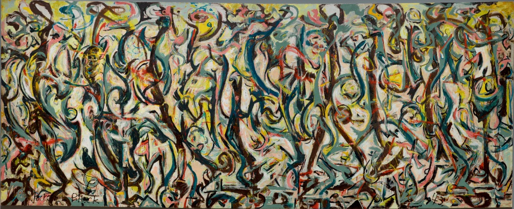 Jackson Pollock, Mural (top: before GCI treatment; below: after GCI treatment), 1943. Collection of the University of Iowa Museum of Art, Iowa City.