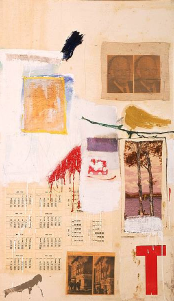 Robert Rauschenberg, Factum I, 1957. Collection of the Museum of Contemporary Art, Los Angeles.