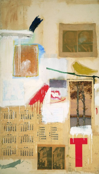 Robert Rauschenberg, Factum II, 1957. Collection of the Museum of Modern Art, New York.