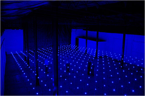 Erwin Redl, Matrix, 2002. Installed in the Ice Plant at the Chinati Foundation, Marfa, Texas.