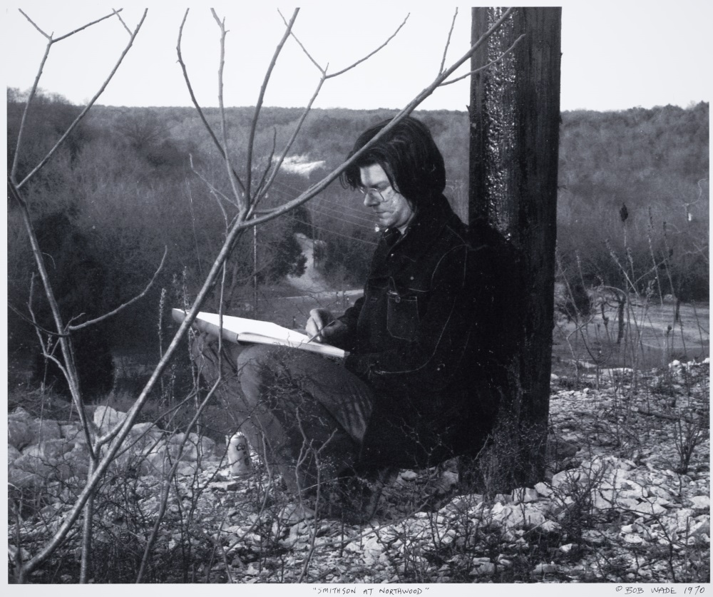 Robert Wade, Robert Smithson drawing at Northwood Institute, 1970.