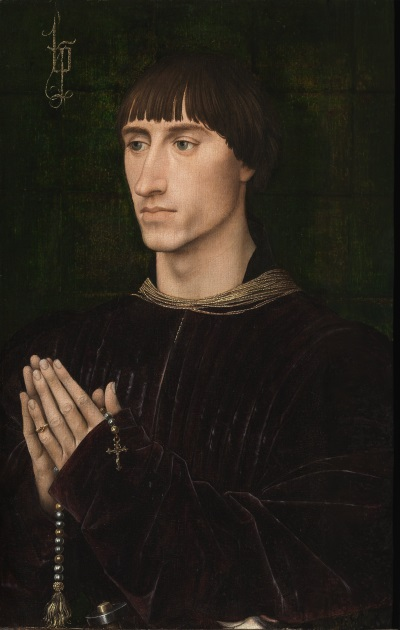 Rogier van der Weyden, Portrait of Philippe de Croÿ, c. 1460. Collection of the Koninlijk Museum coor Schone Kunsten, Antwerp.