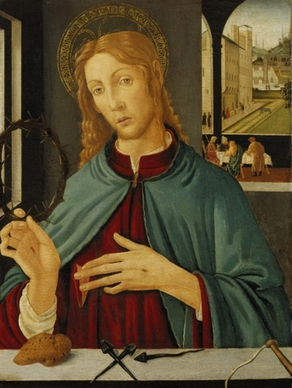 Jacopo del Sellaio, Christ with the Instruments of the Passion, c. 1485. Collection of the Birmingham (Ala.) Museum of Art.
