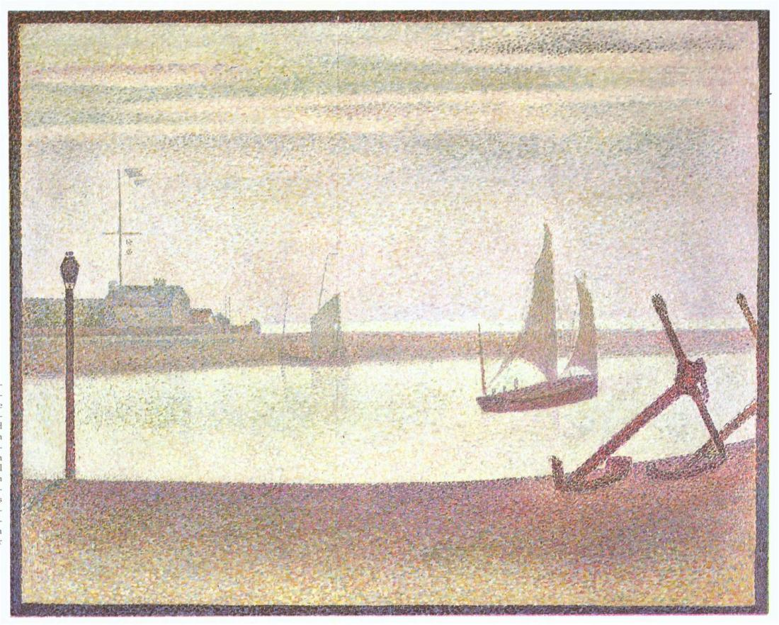 Georges Seurat, Channel of Gravelines, Evening, 1890.