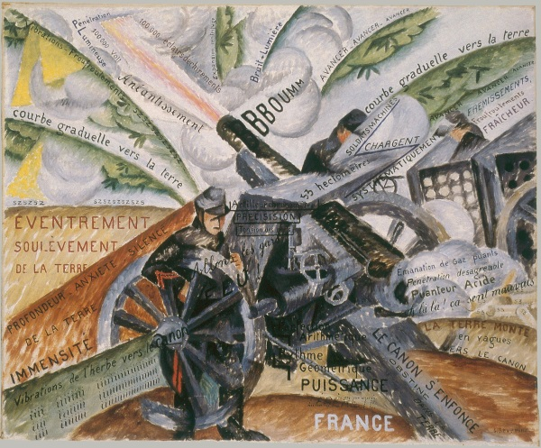 Gino Severini, Cannons in Action, 1915.