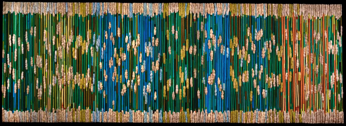 Sheila HIcks, The Silk Rainforest (ca. 1975), commissioned by AT&T for its former New Jersey headquarters, now in the collection of the Smithsonian American Art Museum.