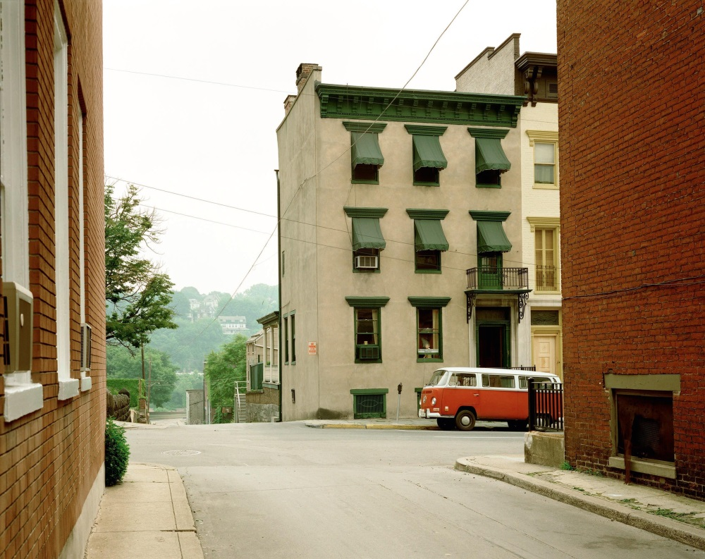 Stephen Shore,  Church Street and Second Street, Easton, Pennsylvania, June 20, 1974.
