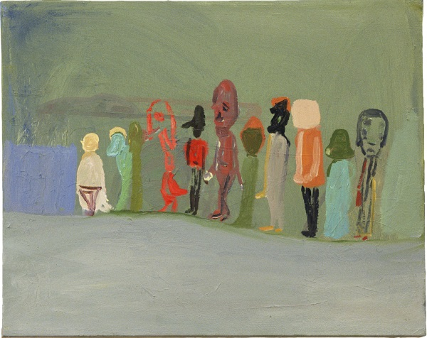 Amy Sillman, Green Painting (Queue), 2001.