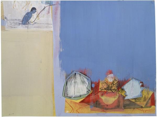 Amy Sillman, The Umbrian Line #13, 1999-2000.