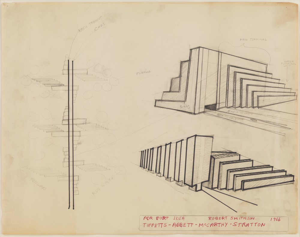Robert Smithson, Airport Idea [Tippets, Abbett, McCarthy, Stratton], 1966.