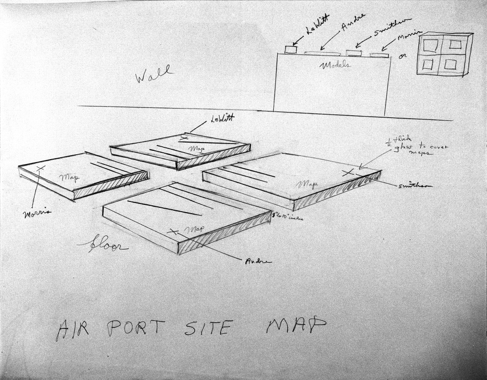 Robert Smithson, Airport Site Map, 1967.