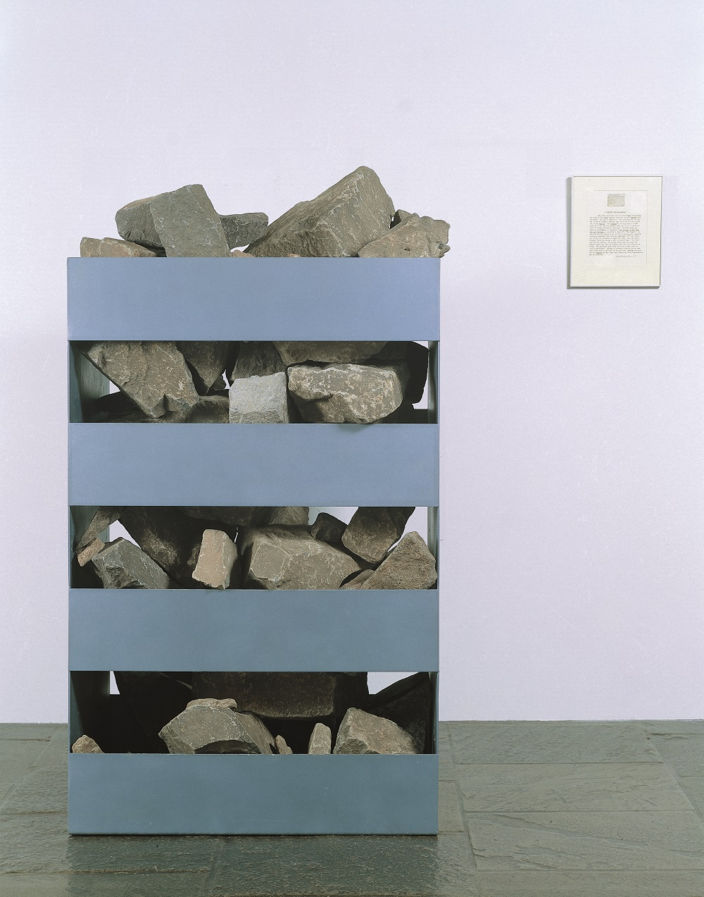 Robert Smithson, Non-site (Palisades-Edgewater, N.J.), 1968. Collection of the Whitney Museum of American Art, New York.