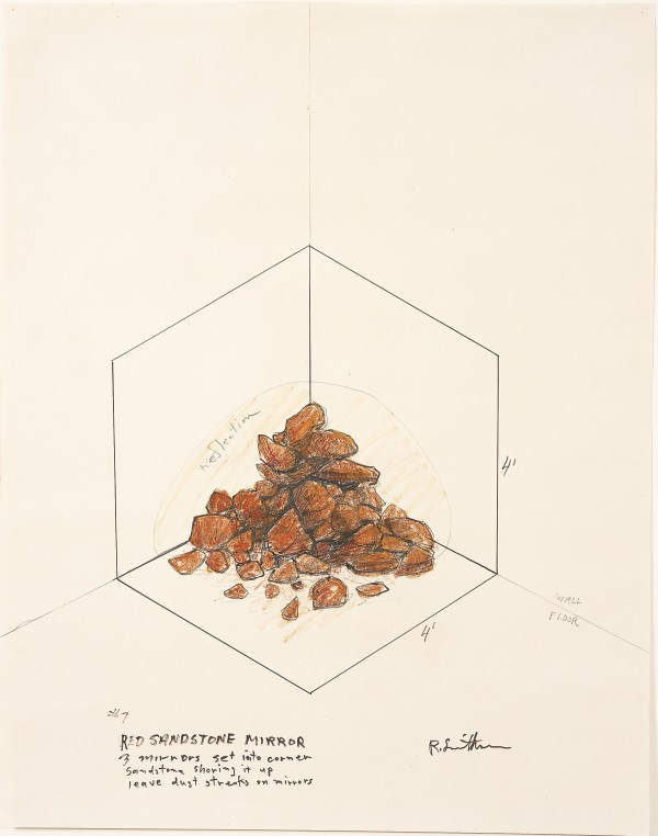Robert Smithson, #7 Red Sandstone Mirror, 1971.