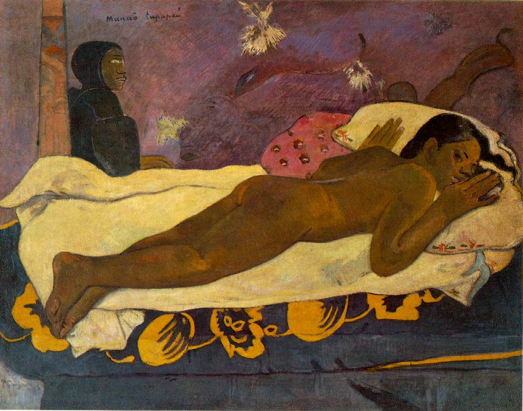 Paul Gauguin, Spirit of the Dead Watching, 1892. Collection of the Albright-Knox Art Gallery, Buffalo.