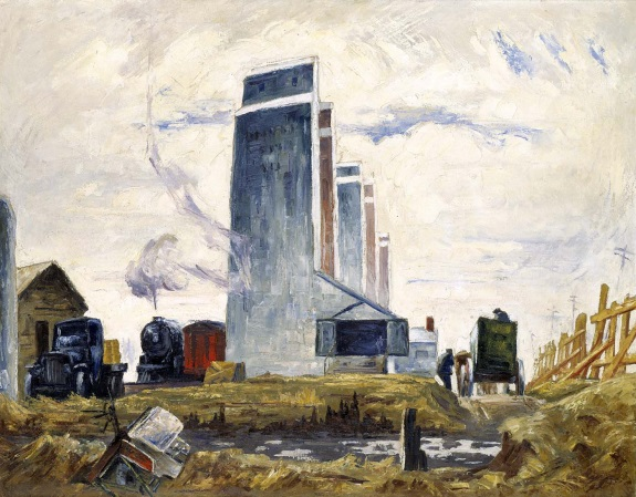 Clyfford Still, Row of Elevators, ca. 1928-29. Collection of the Smithsonian American Art Museum, Washington.