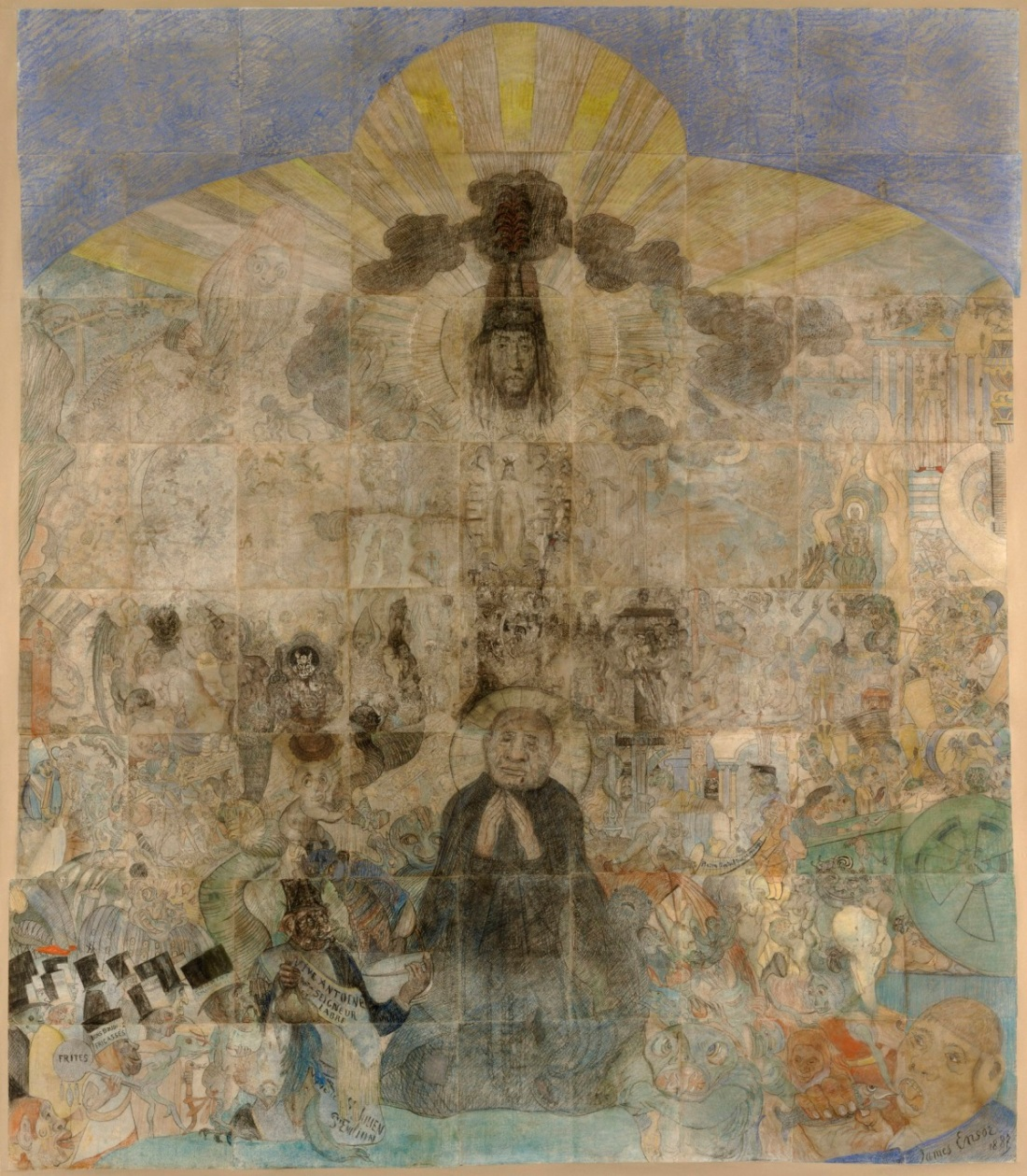 James Ensor, The Temptation of St. Anthony, 1887.