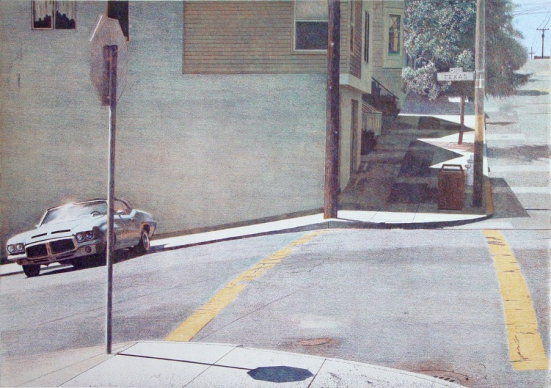 Robert Bechtle, Texas and 20th Intersection, 2004. Published by Crown Point Press.