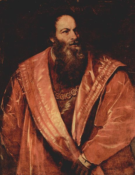 Titian, Portrait of Aretino, ca. 1545.