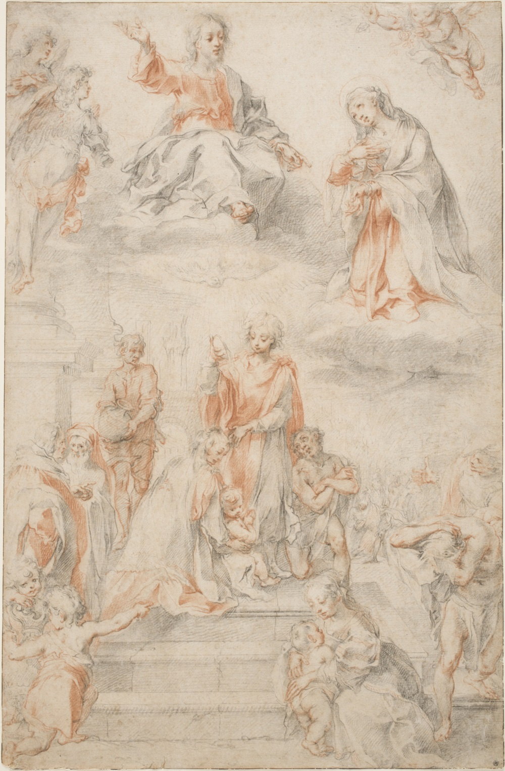 Francesco Vanni, Compositional Study for Saint Ansanus Baptizing the People of Siena, 1593–96. Collection of the Worcester (Mass.) Art Museum.