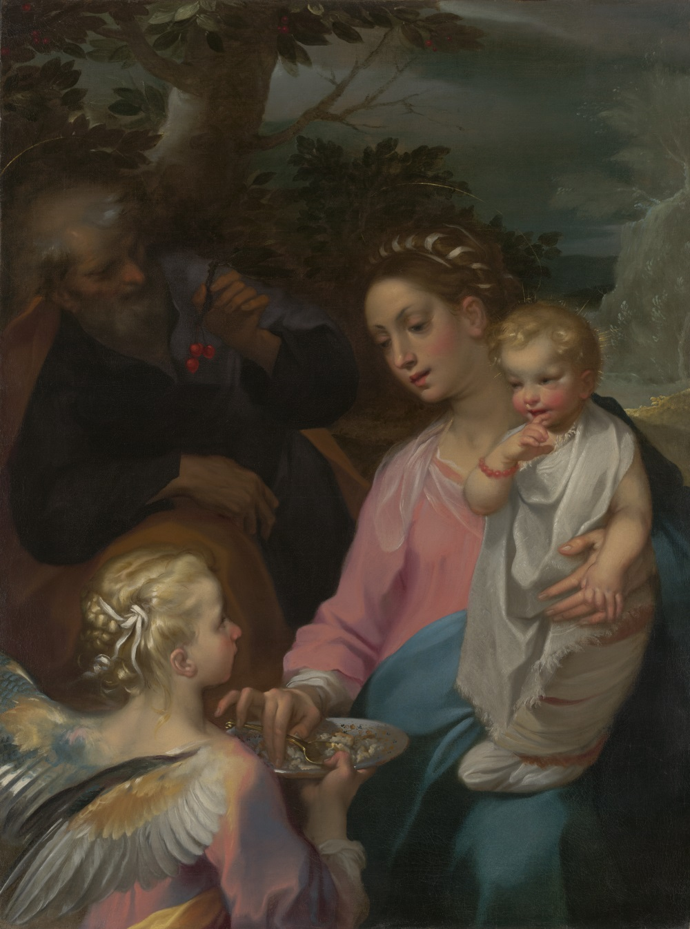 Francesco Vanni, The Rest on the Flight to Egypt, known as the Madonna della Pappa, ca. 1599. Collection of the Yale University Art Gallery, New Haven, Conn.