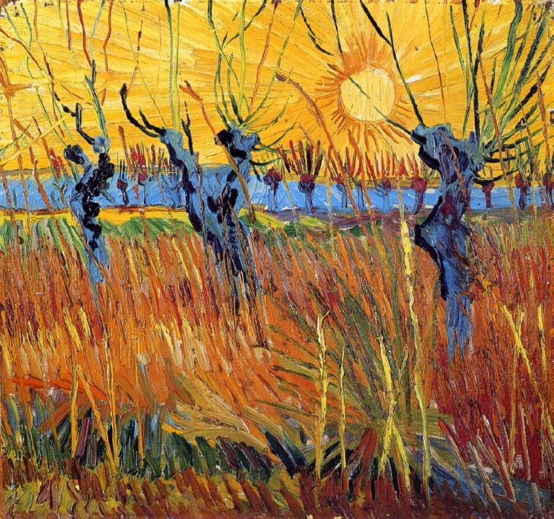 Vincent Van Gogh, Willows at Sunset, 1888.