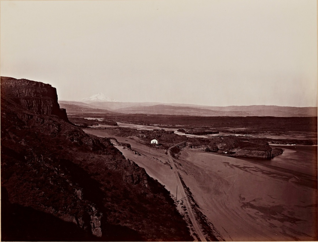Carleton Watkins, Mt. Hood and The Dalles, Columbia River, 1867.