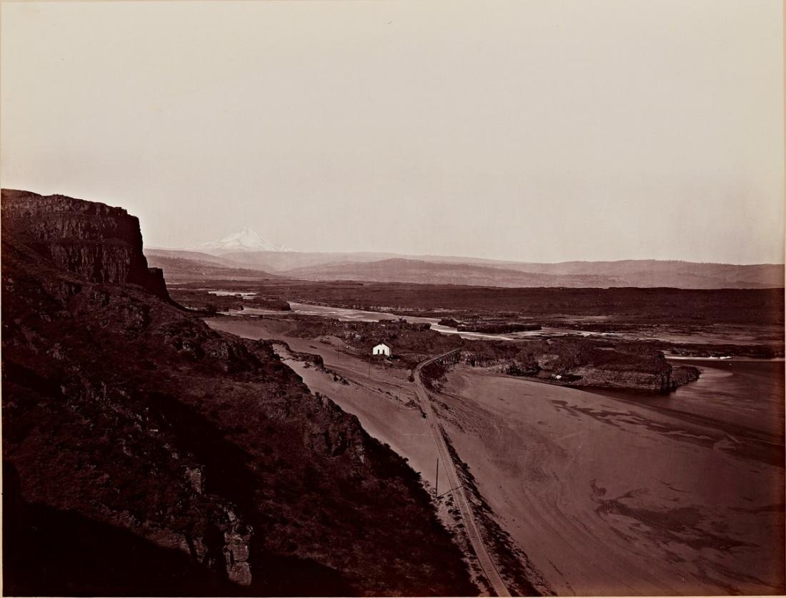 Carleton Watkins, Mt. Hood and The Dalles, Columbia River, 1867.