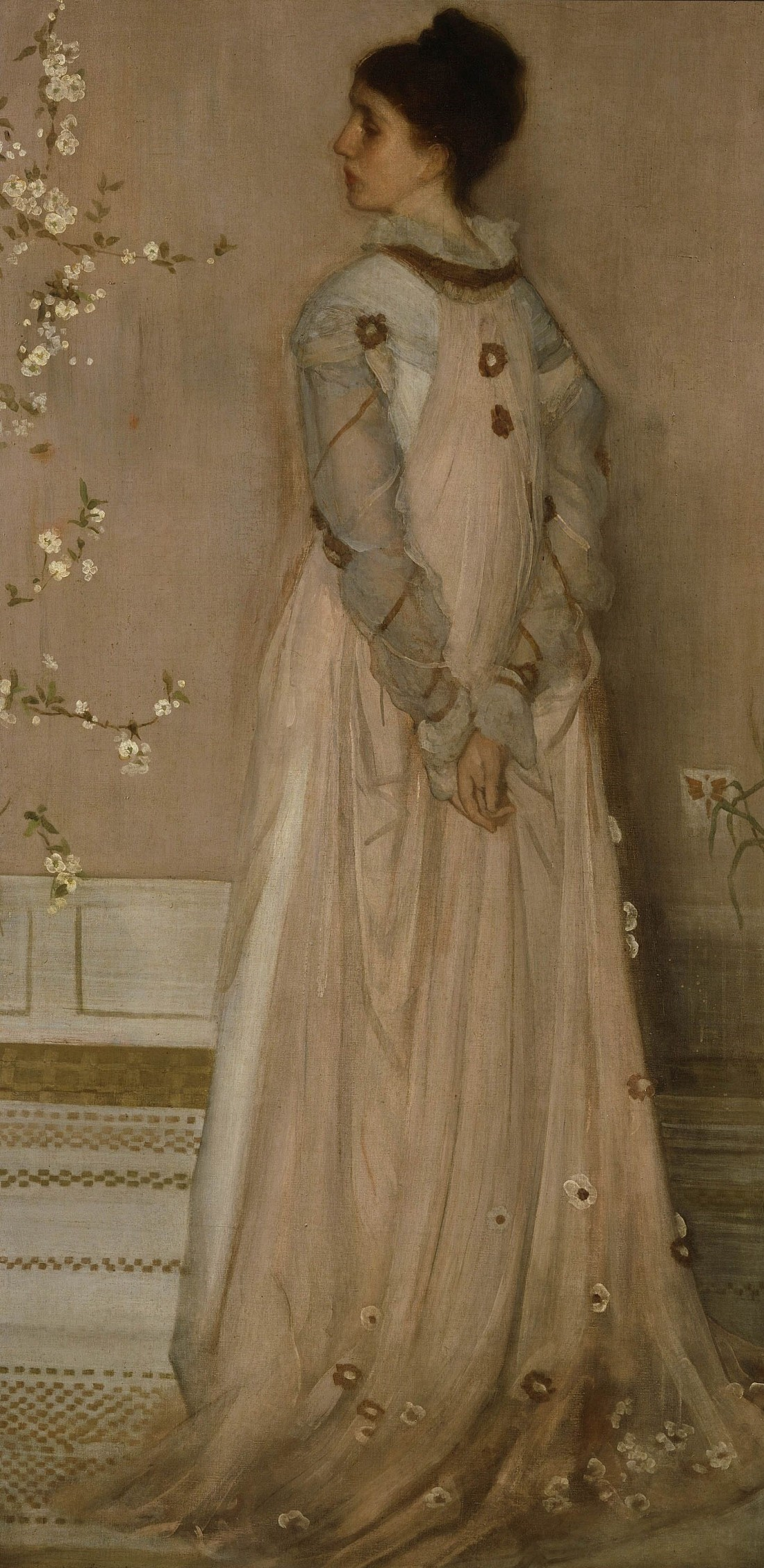 James McNeill Whistler,  Symphony in Flesh Color and Pink: Portrait of Mrs. Frances Leyland, (1871-74).