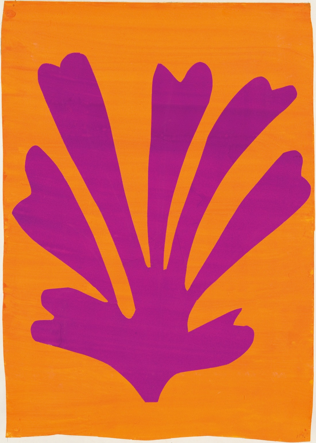 Henri Matisse,  Palmette (Feuille violet sur fond orange), 1947.