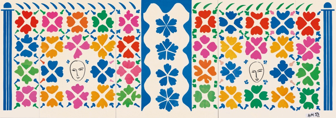 Henri Matisse, Large Decoration with Masks (Grande Décoration aux Masques), 1953.