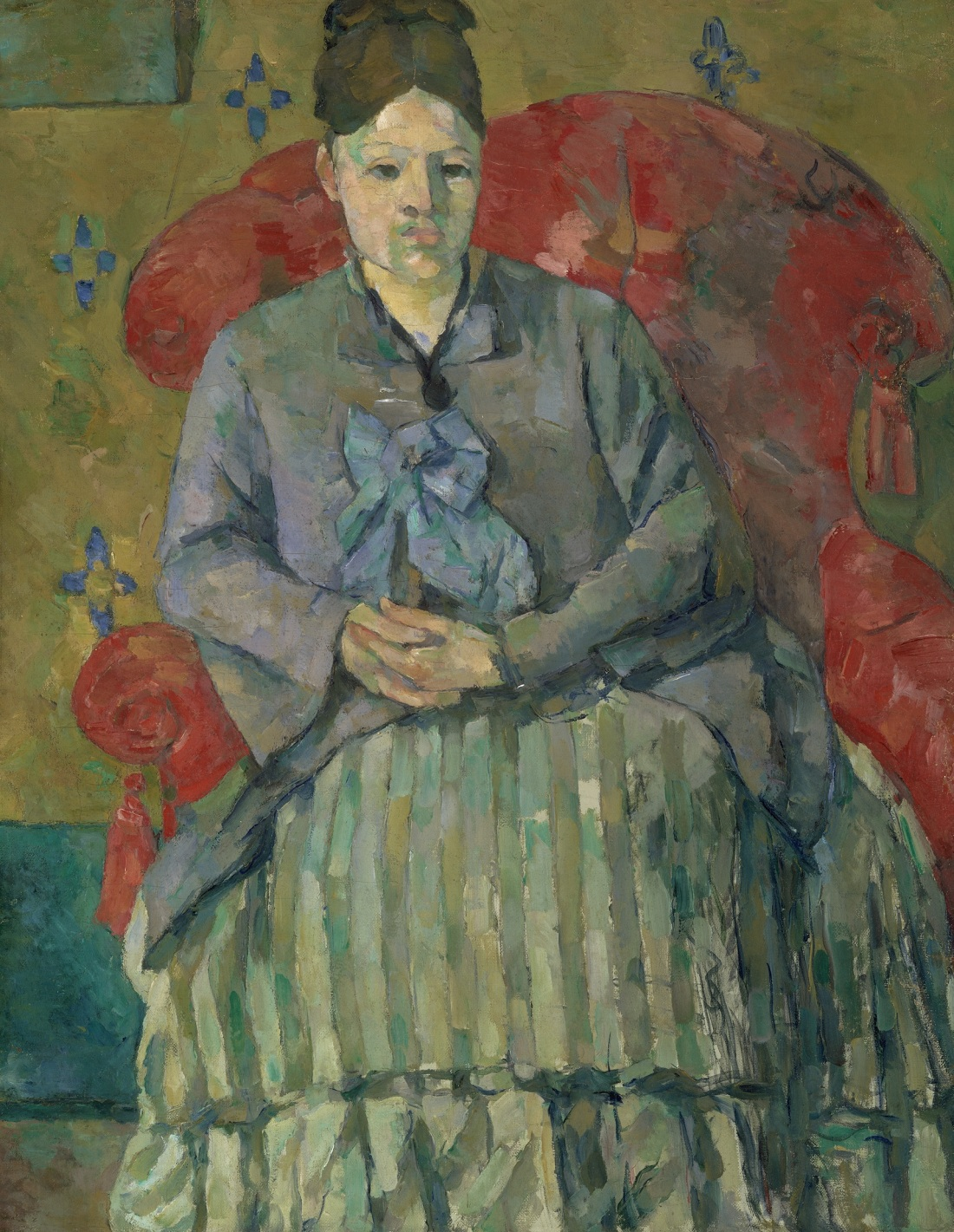 Paul Cezanne, Madame Cezanne in a Red Armchair, ca. 1877. Collection of the Museum of Fine Arts, Boston.