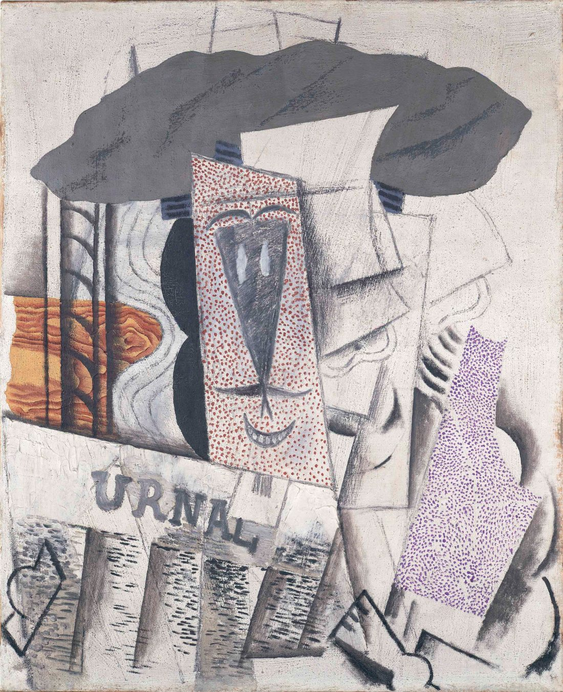 Pablo Picasso, Student with a Newspaper, 1913-14.