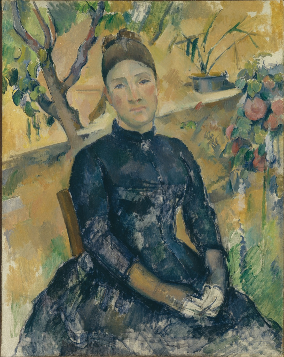 Paul Cezanne, Madame Cezanne in the Conservatory, 1891. Collection of the Metropolitan Museum of Art, New York.