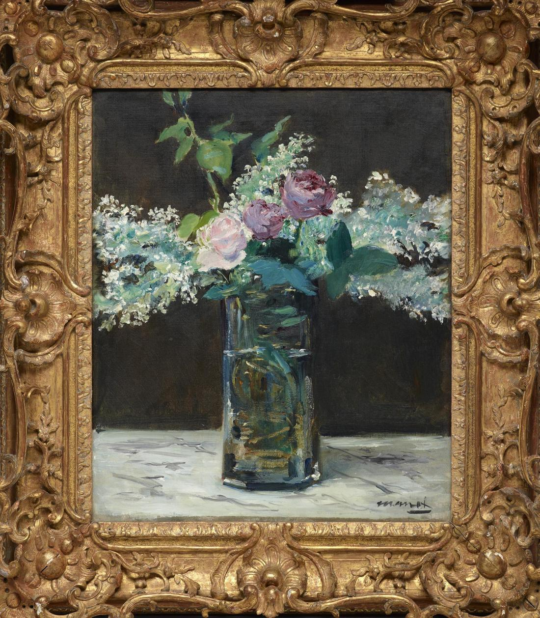 Edouard Manet, Vase of White Lilacs and Roses, 1868.