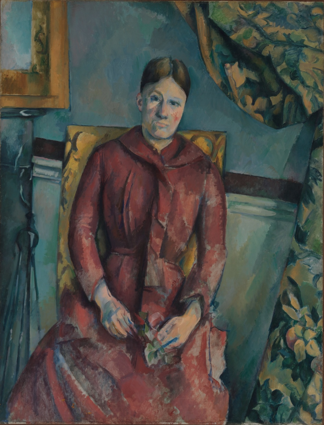 Paul Cezanne, Madame Cezanne in a Red Dress, ca. 1888-90. Collection of the Metropolitan Museum of Art, New York.
