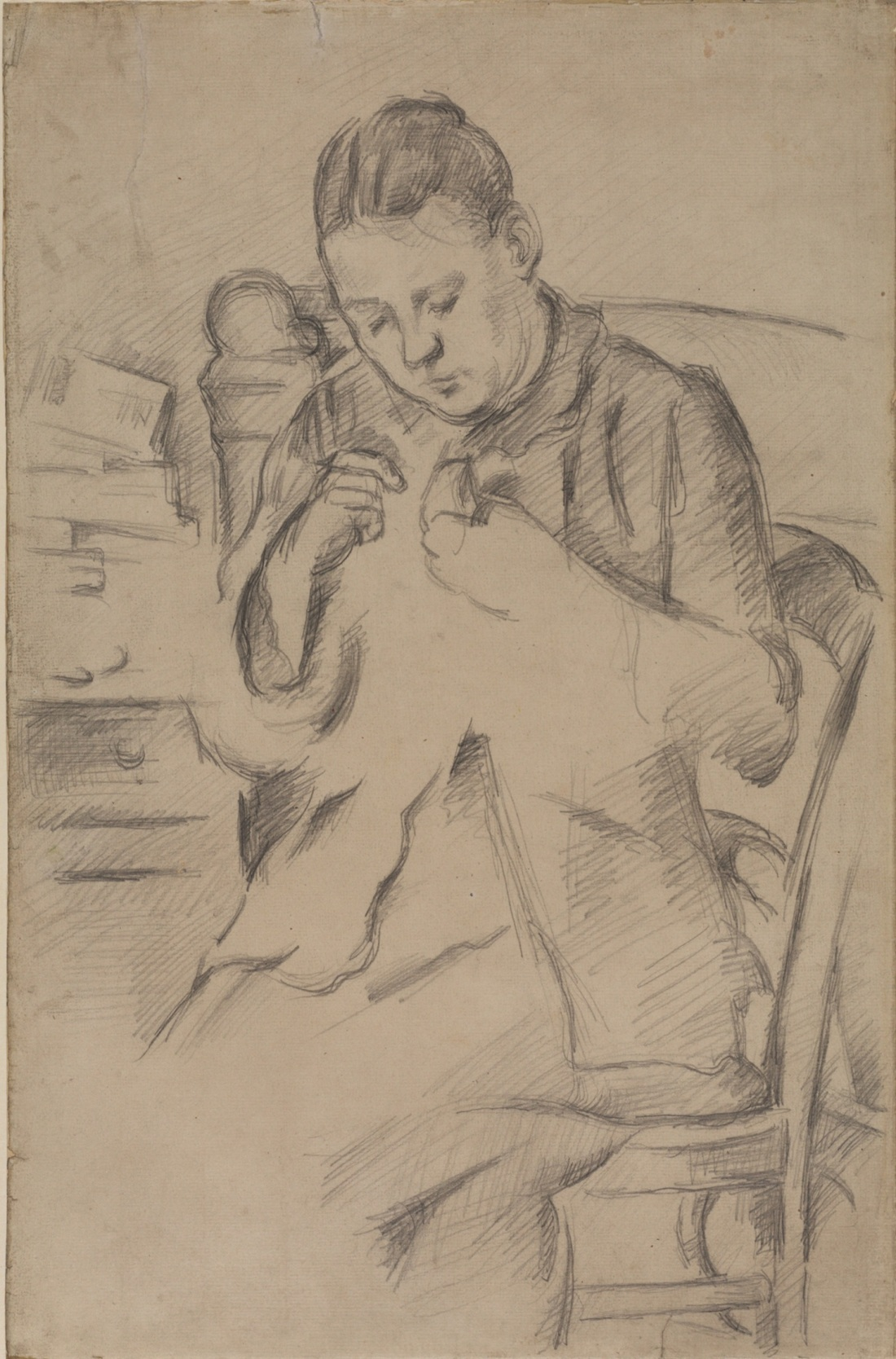 Paul Cezanne, Madame Cezanne Sewing. Collection of the Courtauld Institute of Art, London.