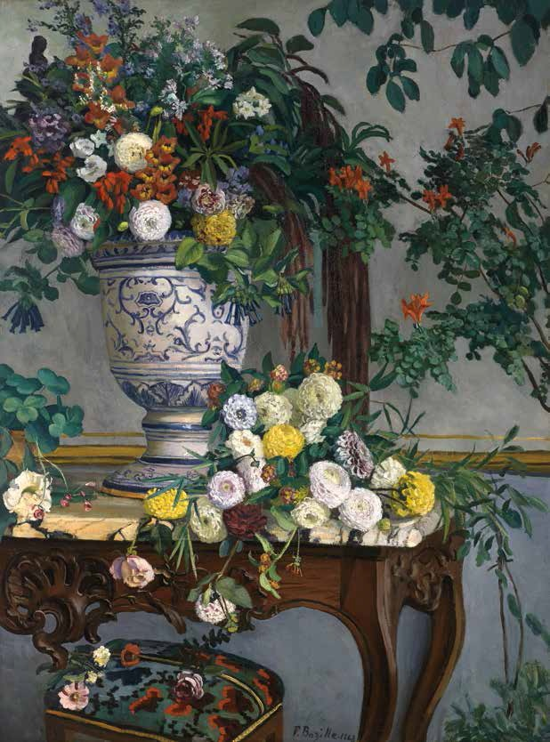 Frederic Bazille, Flowers, 1868.
