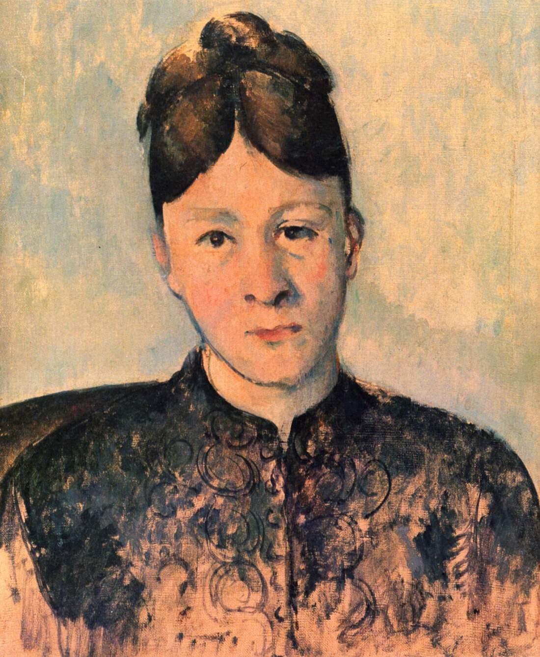 Paul Cezanne, Portrait of Madame Cezanne, ca. 1885. Staatliche Museen zu Berlin, Nationalgalerie, Museum Berggruen