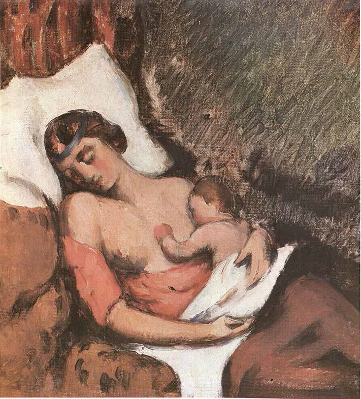 Paul Cezanne, Woman Nursing Her Child, ca. 1872.