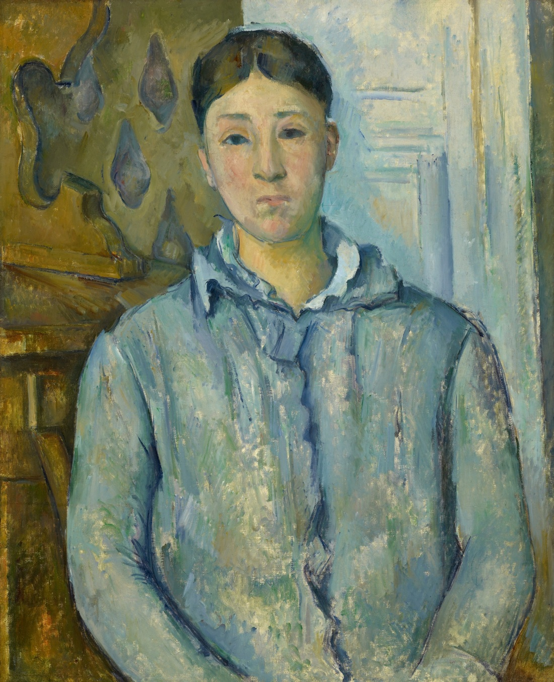 Paul Cezanne, Madame Cezanne in a Blue Dress, ca. 1888-90. Collection of the Museum of Fine Arts Houston.