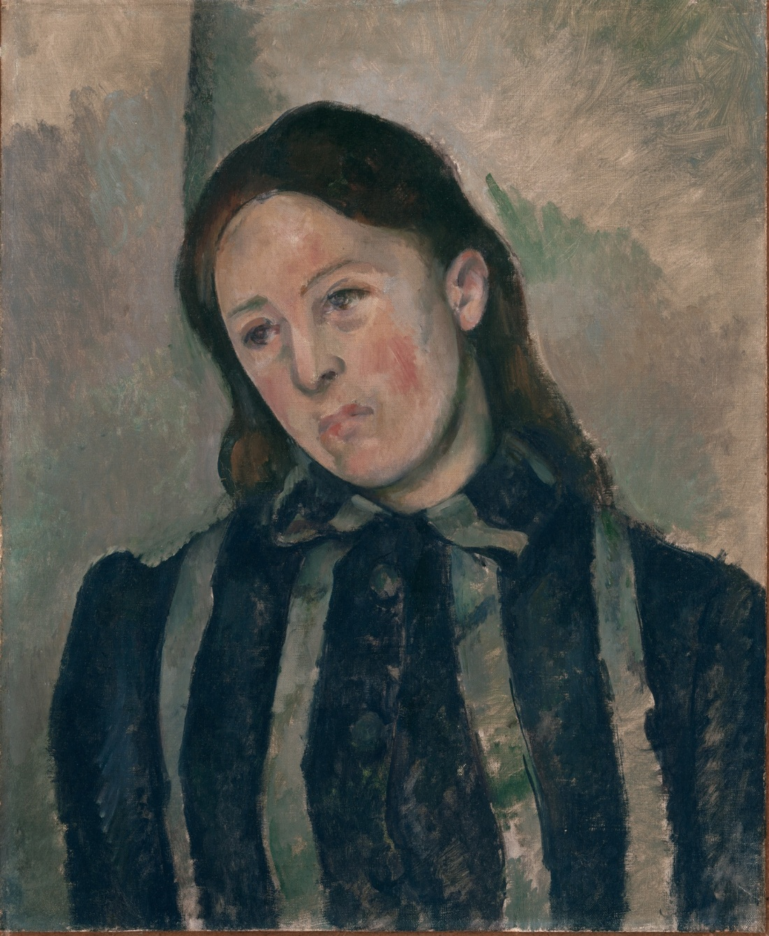 Paul Cezanne, Portrait of Madame Cezanne, 1890-92. Collection of the Philadelphia Museum of Art.