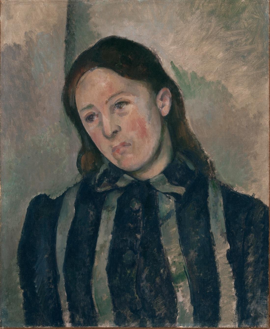 Paul Cezanne, Portrait of Madame Cezanne, 1890-92. Collection of the Philadelphia Museum of Art.