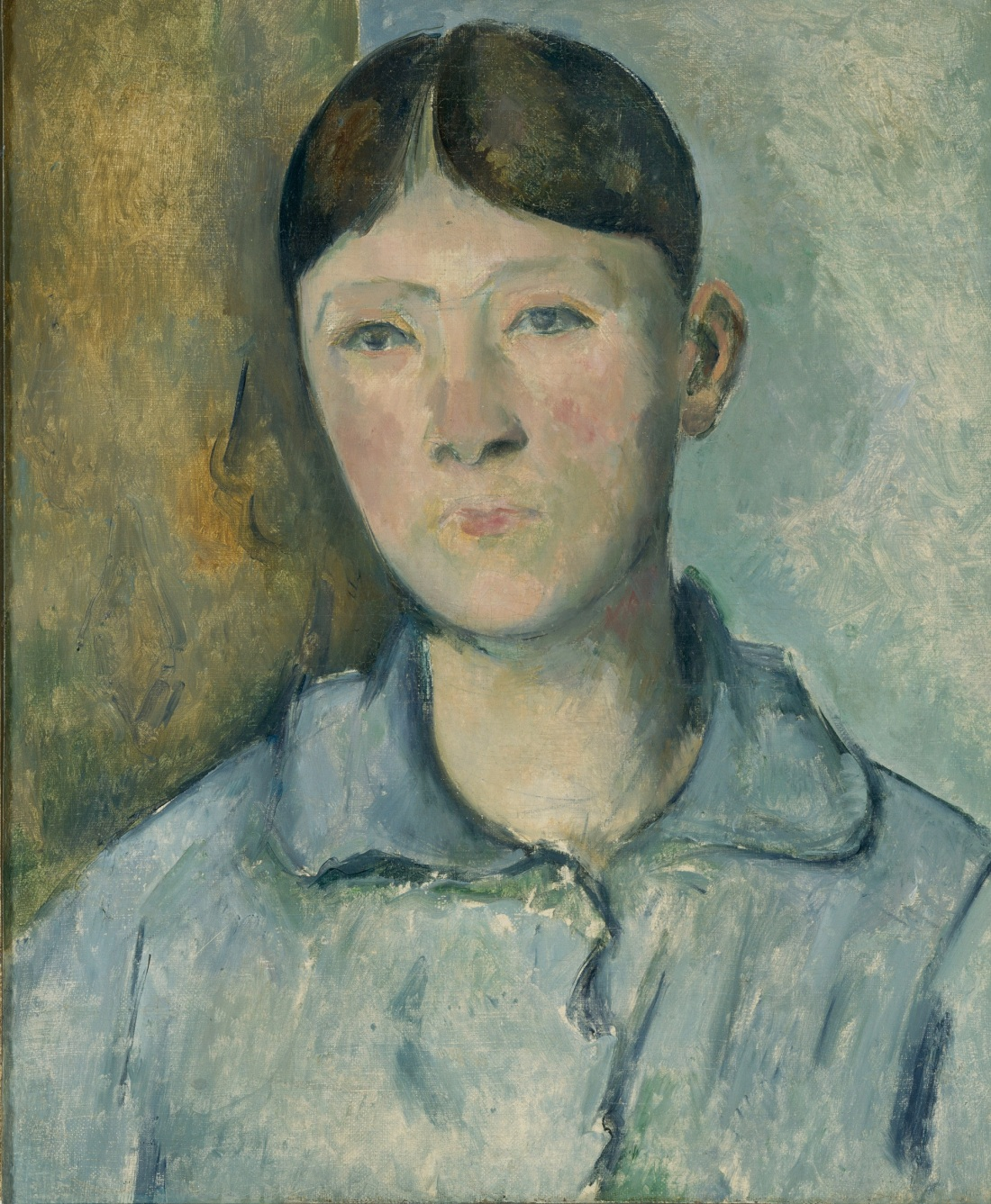 Paul Cezanne, Portrait of Madame Cezanne, Ca. 1885-88. Musée d'Orsay, Paris.