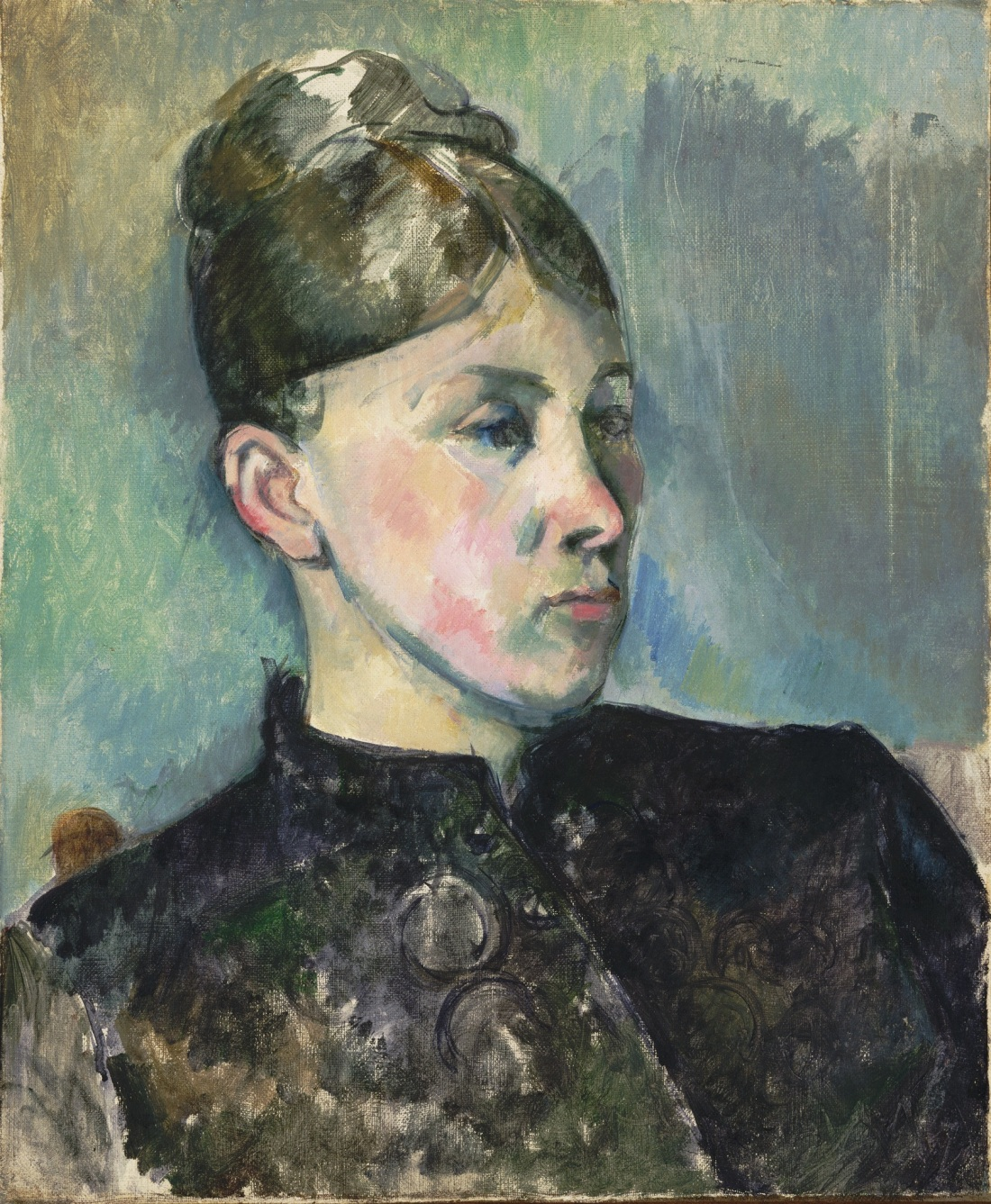 Paul Cezanne, Portrait of Madame Cezanne, 1886-87. Collection of the Philadelphia Museum of Art.