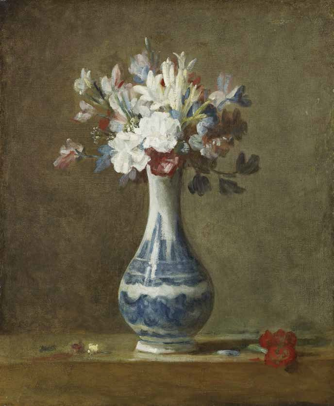 Chardin, A Vase of Flowers, 1750.